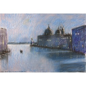 Evening, The Grand Canal & The Church of The Salute, Venice